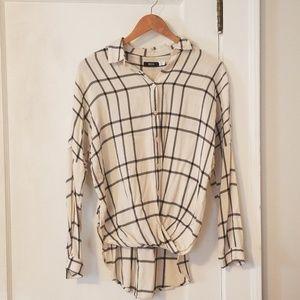 BDG twist front flannel, size XS